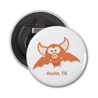 Orange Bat - Austin, TX Bottle Opener