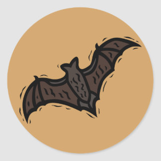 Orange Bat Sticker