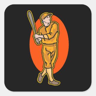 Orange Batter Square Sticker