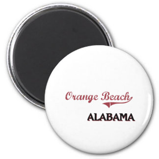 Orange Beach Alabama City Classic 6 Cm Round Magnet