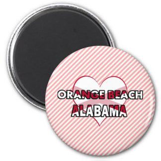 Orange Beach, Alabama 6 Cm Round Magnet