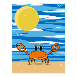 Orange Beach Crab Postcard