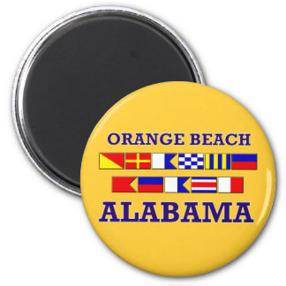 Orange Beach Flags Magnet