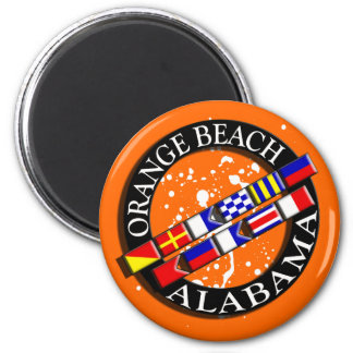 Orange Beach Nautical Magnet