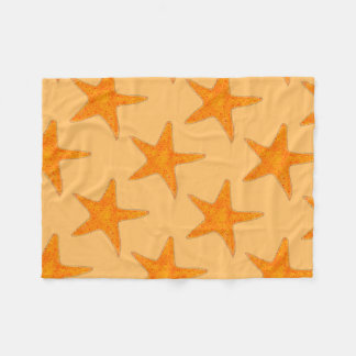 Orange Beach Ocean Starfish Star Fish Blanket