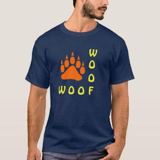 Orange Bear Paw Double Woof Gay Bear T-Shirt