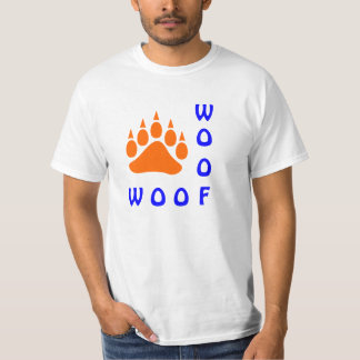 Orange Bear Paw Double Woof Gay Bear T-Shirt