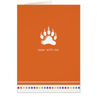 Orange | Bear With Me Card