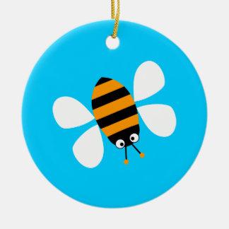 Orange Bee Christmas Ornament