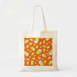 Orange beer pattern bag