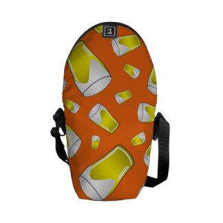 Orange beer pattern courier bags