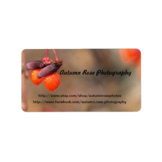 orange berries address label