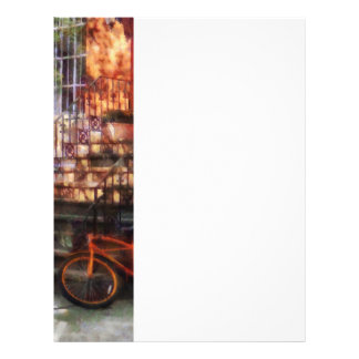 Orange Bicycle by Brownstone Personalized Flyer