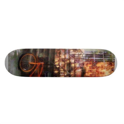 Orange Bicycle by Brownstone Skateboard Deck