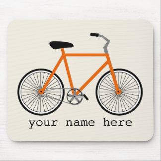 Orange Bicycle Mousepad