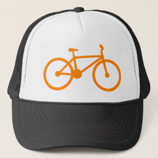 Orange Bicycle Trucker Hat