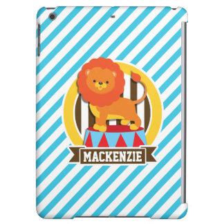Orange Big Top Circus Lion; Blue & White Stripes iPad Air Case