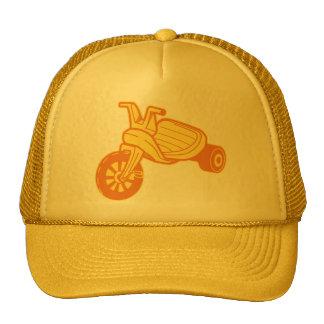 Orange Big Wheel Trucker Hat
