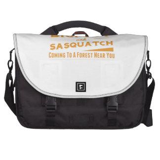 Orange Bigfoot And Sasquatch Hide Seek Champions Laptop Bag