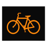 Orange Bike Art Photo