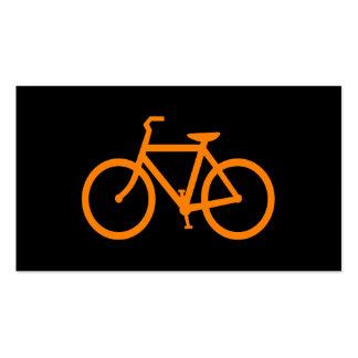 Orange Bike Business Card Template