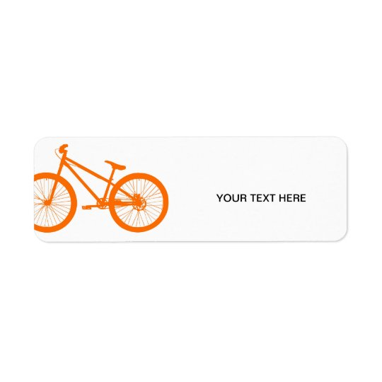 Orange Bike Return Address Label