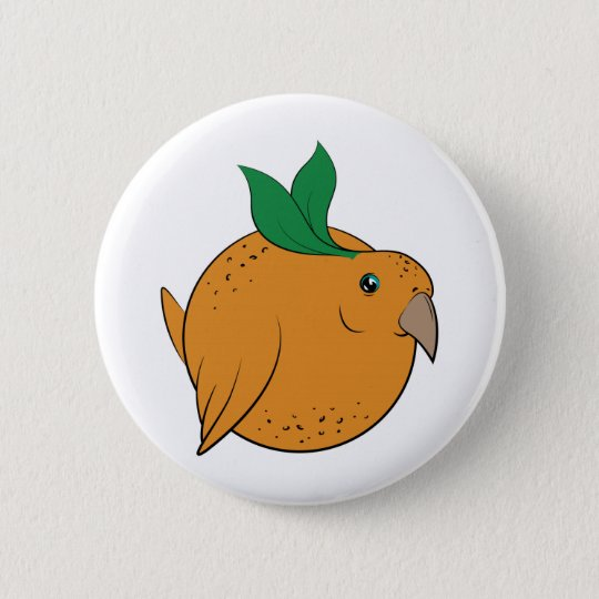 Orange Birble 6 Cm Round Badge