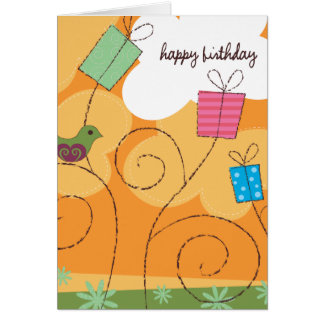Orange Birthday Card