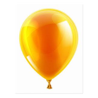 Orange birthday or party balloon postcards