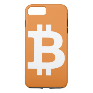 Orange Bitcoin logo iPhone plus case