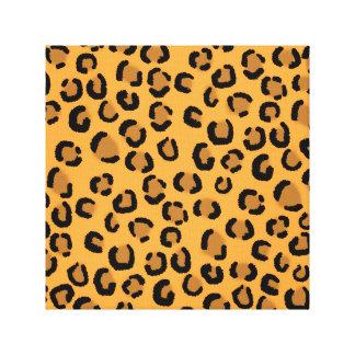 Orange, Black and Brown Leopard Print Pattern.