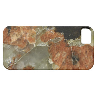Orange, Black and Clear Quartz Barely There iPhone 5 Case