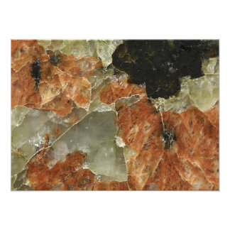 Orange, Black and Clear Quartz Photo Print