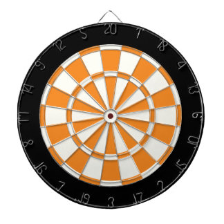 Orange Black And White Dart Boards