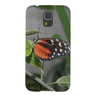 Orange Black and White Spotted Butterfly. Case For Galaxy S5