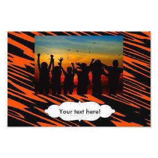 Orange black background photo art