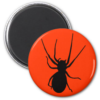 Orange Black Creepy Spider Magnet
