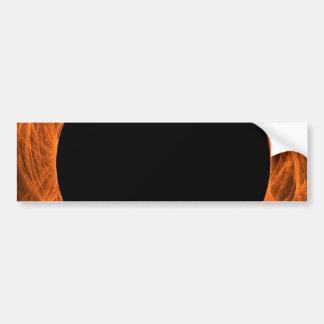 Orange & Black Fractal Background Bumper Sticker