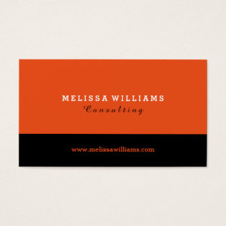 Orange & Black Modern Minimalistic Design