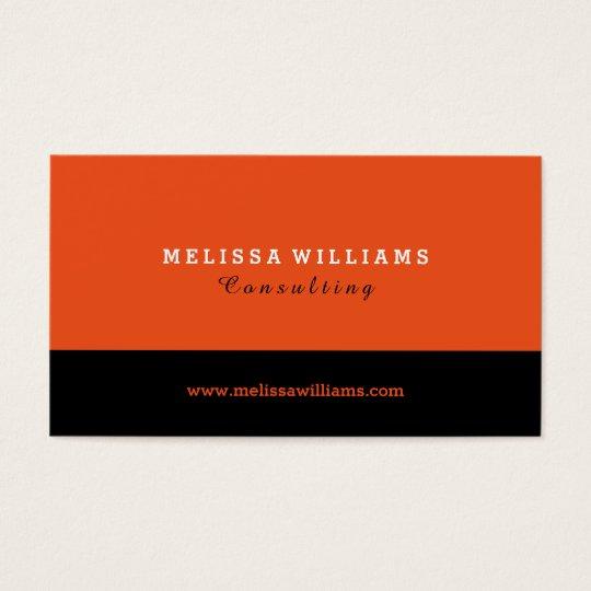 Orange & Black Modern Minimalistic Design Business Card