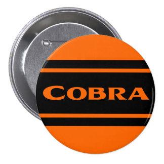 Orange Black Race Stripe Cobra Button