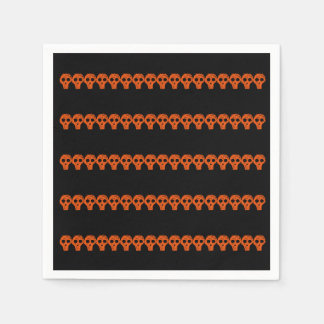 Orange Black Skulls Halloween 4Marvin Disposable Napkin