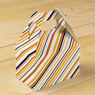 Orange & Black Stripe Favor Box