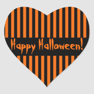 Orange Black Stripe Halloween Sticker