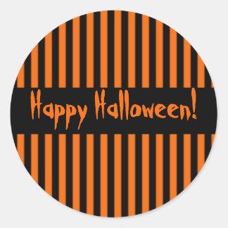 Orange & Black Stripe Halloween Sticker