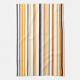 Orange & Black Stripe Kitchen Towel