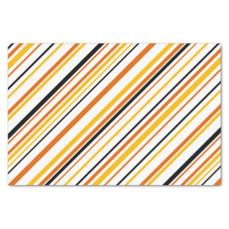 Orange & Black Stripe Tissue Paper