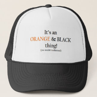 Orange & Black Thing Trucker Hat