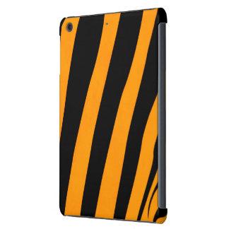 Orange Black Tiger Skin inspired Stripes Pattern iPad Mini Case