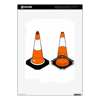 orange black  Traffic cones safety pylons Decals For iPad 3